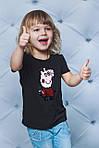 Футболка детская с паетками свинка Пепа, фото 2