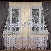 Турецкий тюль фатин с вышивкой, фото 1