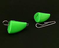 """Груз люминесцентный салатовый """"Пуля Active"""" разборный 8г (в блистере 7 шт.), фото 1"""