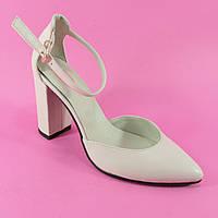 Открытые туфли цвета матовая пудра из натуральной КОЖИ