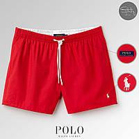 Пляжные мужские шорты для пляжа/плавания/купания поло ральф лорен (Polo Ralph Lauren), реплика