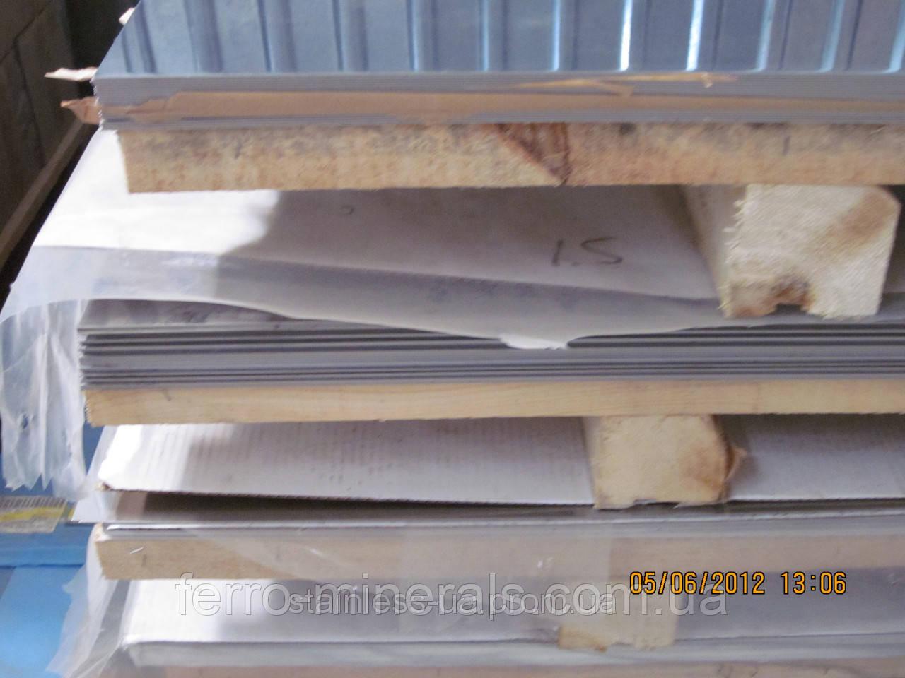 Нержавеющий лист 1,2х1250х2500мм, AISI 441 (08X17), 2В