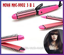 Плойка-щипцы для волос 3 в 1 Nova NHC-9902, Качество, фото 3