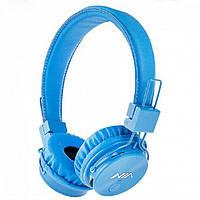 Беспроводные Bluetooth Наушники с MP3 плеером NIA-X3 Радио блютуз Синие