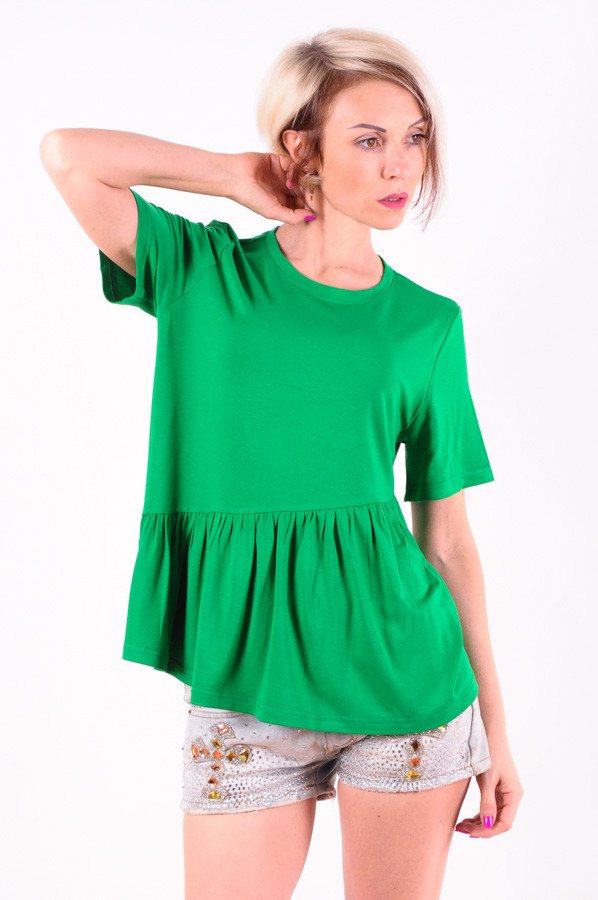 Женская футболка зеленая размеры 40-44
