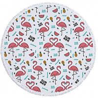 Пляжний Килимок Summer Flamingo (циновка для пляжу + парео) / Пляжный Коврик ЛетнийФламинго