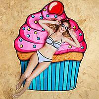 Пляжний килимок Капкейк / Пляжный коврик (парео) Кекс, 150 см