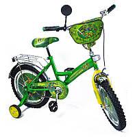 """Велосипед Ниндзя черепашки 16 BT-CB-0013 зеленый с желтым, система: """"One piece crank"""""""