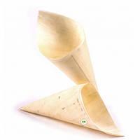Конус-стакан для еды бамбуковый 180 мм 100 шт
