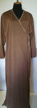 Женский домашний халат, вискоза, большого размера Турция 62, Коричневый