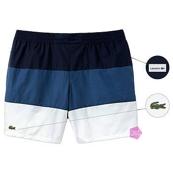 Мужские шорты Lacoste (ориг.бирка) черный/синий/белый