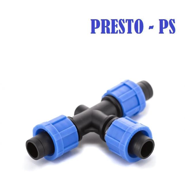 Тройник для капельного полива Presto-PS