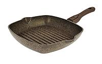 Сковорода-гриль Биол Гранит браун со съемной ручкой 28 см 28143П
