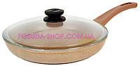 Сковорода Оптима-Декор Биол антипригарная с стеклянной крышкой 28 см 28047ПС