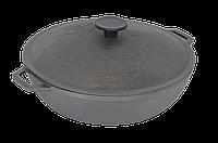 Сковорода чугунная жаровня Биол с чугунной крышкой Ø 28см