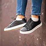 Мужские кроссовки South Greer Black, классические кожаные кроссовки, мужские кожаные кеды , фото 2