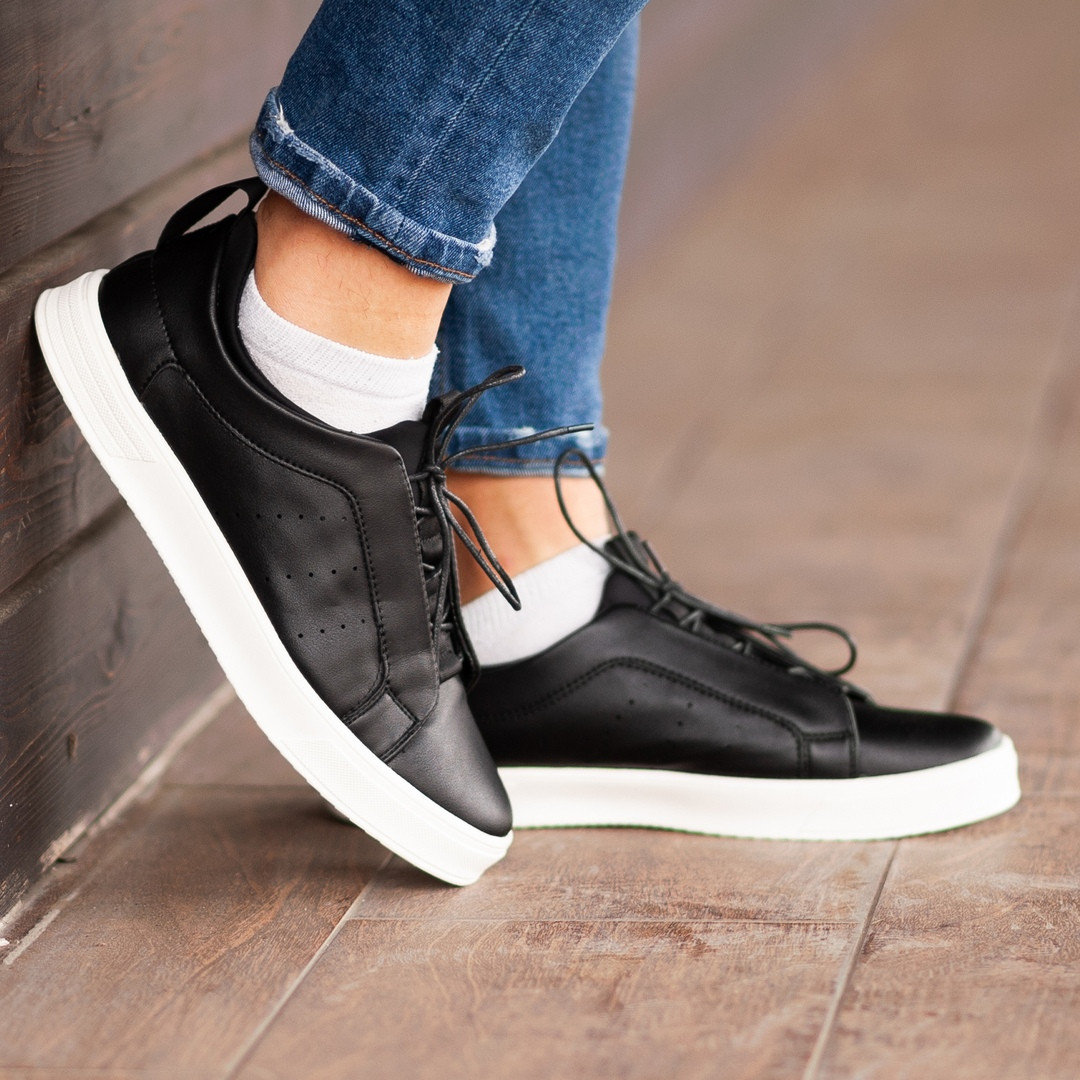 Мужские кроссовки South Greer Black, классические кожаные кроссовки, мужские кожаные кеды