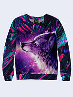 Свитшот молодежный 3D женский тм Vilno Красочный волк