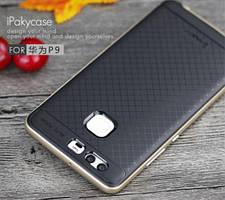 Чехол iPaky TPU+PC для Huawei P9 (Черный / Золотой)