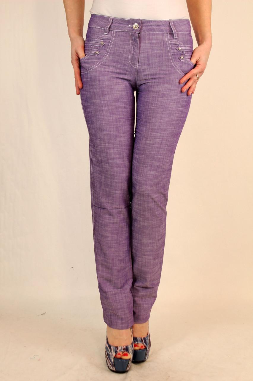 Льняные прямые брюки 42-48 р