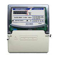 Трехфазный однотарифный электросчетчик ЦЭ 6804-U/1 220В 5-60А 3ф. 4пр. МР32