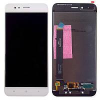 Дисплей для мобильного телефона Xiaomi Mi A1/Mi5x, белый, с тачскрином