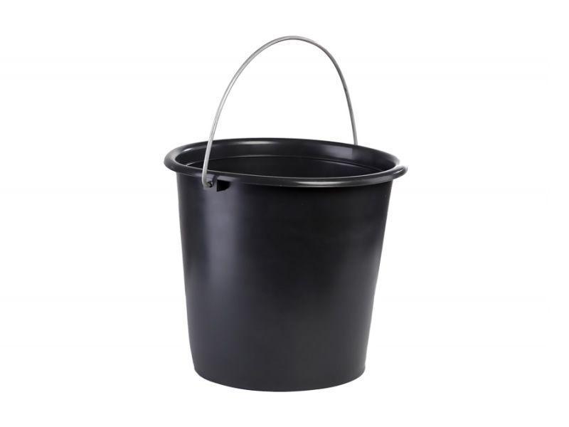 Ведро 10л черное Лемира