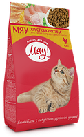 Сухой корм для кошек Мяу! с курицей 11 кг.
