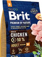 Сухой корм Brit Premium Adult M для взрослых собак средних пород со вкусом курицы15 kg