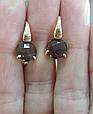 Золоті сережки з раухтопазом, фото 2