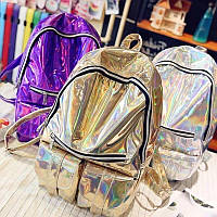 Галограмный рюкзак Изабелла, блестящий подростковый стиль