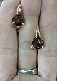 Золоті сережки з раухтопазом, фото 4