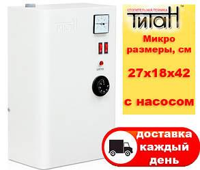 Электрический котел ТИТАН Микро Настенный 3 кВт 220В с насосом 1,5+1,5=3кВт