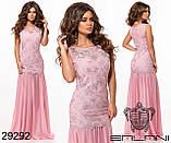 Платье креп дайвинг, вышивка пайетка на сетке Размеры: S, М, L, фото 6