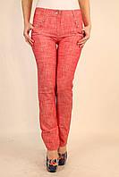 Красные брюки из льна 42-48 р