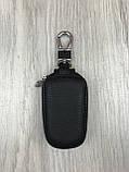 Стильна шкіряна ключниця Ford чорна Якість Автомобільний брелок для ключів Трендовий Форд копія, фото 2