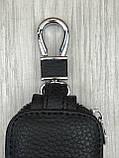 Стильна шкіряна ключниця Ford чорна Якість Автомобільний брелок для ключів Трендовий Форд копія, фото 5
