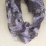 Палантин Гребешок П-00128-1, 8-1, нежно-сиреневый/темно-серый, 170х75, оренбургский шарф (палантин) козий пух, фото 3