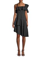 Женское нарядное черное хлопковое платье Kendall+Kylie