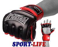 Перчатки для MMA PowerPlay 3058 черно-синие, черно-красные, фото 1