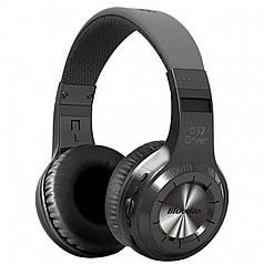 Потужна Bluetooth гарнітура Bluedio H+ Black навушники з мікрофоном стерео бездротова microSD fm радіо