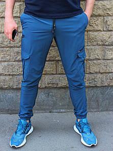 Летние спортивные штаны карго с боковыми карманами на манжете (Реплика)