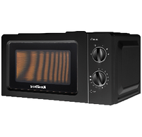 ⭐ Микроволновая печь GRUNHELM 20MX68-LB (черная) 20л, 800 Вт, механическая