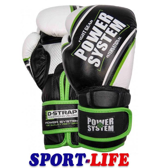Перчатки для бокса POWERSYSTEM PS 5006 CONTENDER с зеленым, с оранжевым
