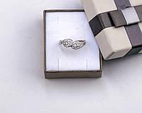 Серебряное кольцо бесконечность с фианитами размер 18 серебро 925 проба