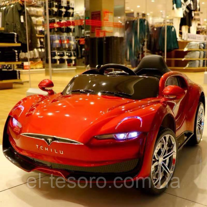Електромобіль дитячий T-7636 RED, Tesla