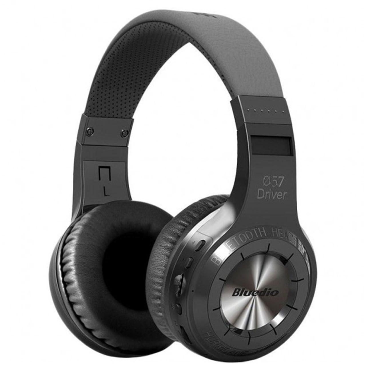 ✖Стерео bluetooth гарнитура Bluedio H+ Black наушники с микрофоном беспроводная USB microSD FM-радио