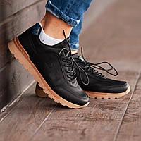 Мужские кроссовки South Apache black, классические кожаные кроссовки, мужские кожаные кеды