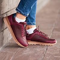 Мужские кроссовки South Apache maroon, кожаные бордовые мужские кроссовки, замшевые классические кеды