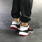 Мужские кроссовки Adidas Equipment 91/18 (черно-белые с красным), фото 4
